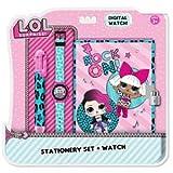 Lol Surprise Stationery Set Diario Segreto + Orologio + Penna 6 Colori