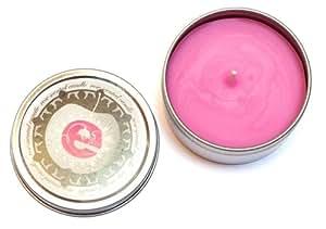 Bougie Eden - Parfum Rose - Boîte en métal