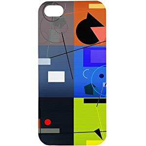 Casotec Abstract Figure Design Hard Back Case Cover for Apple iPhone 5 / 5S