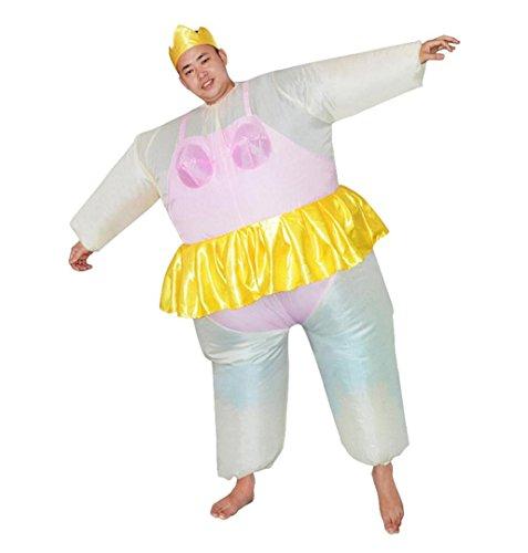 Fasching Zweite Haut Anzug ,ZEZKT Maskenkostüm Sumo Wrestler Halloween Aufblasbares Kostüm Sumo-Kostüm für Erwachsene (Rosa)