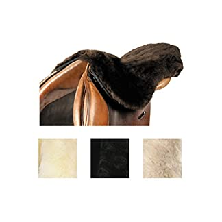 LeMieux Lambskin Seat Saver - Dark Brown Wool, One Size 7