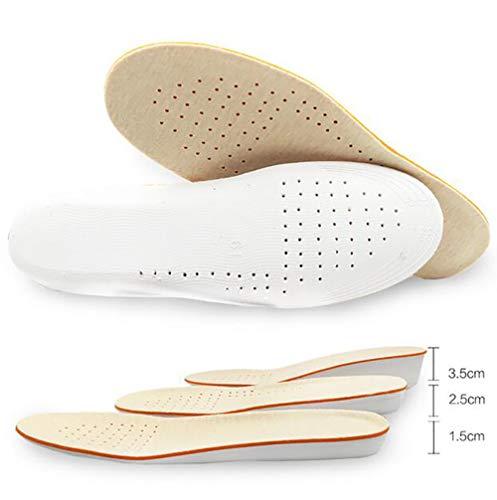 Tukistore Erhöhung Höhe Einlegesohle1.5cm/2.5cm/3.5cm Atmungsaktive High Full Shoe Erhöhte Innerhalb Cushion Pads Einlegesohle Unsichtbare Fersen für Männer Frauen -