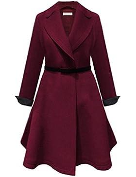 Heheja Donna Trench Coat Invernale Cappotto Manica Lunga Soprabito Eleganti Giacca Parka