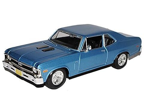 Chevrolet Nova SS Coupe Blau 2. Generation 1968-1979 1/24 Maisto Modell Auto (1968 Nova)