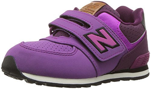 New Balance Unisex-Kinder Sneaker, Violett (Hunter/Purple/Black), 35.5 EU (3 UK) New Balance Sneakers Velcro