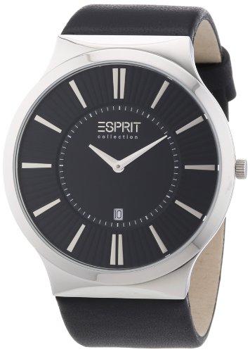 Esprit Herren-Armbanduhr XL Leodor night Analog Quarz Leder EL101381F03
