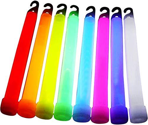 10 Power Knicklichter, Leuchtstäbe bunt gemischt, 150x10 mm inkl. Aufhängband, glow stick