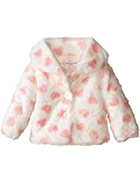 Pumpkin Patch Baby-Girls Infant Button Up Fluffy Hearts Jacket