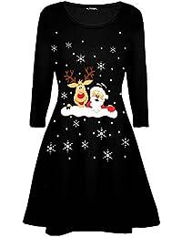 Damen Weinachten Kleid