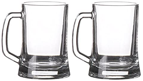 Pasabahce 2 Pack of Traditional German Tankards 500ml Stein Beer