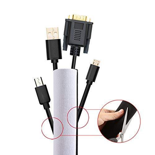 BELLESTYLE kabelschlauch Kabelmanagement 3 m Flexible Neoprenschnur Kabel Tidy Organizer Klettverschluss Für TV PC Desk Computer Home Entertainment