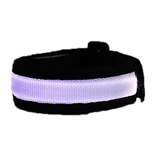 JiuRui LED Light & Lamp Rote Partei-Dekoration führte das Handgelenk-Band-laufende Sicherheits-Glühen-Gurt-Licht-Arm-Band geführte Handgelenk-Bügel-Licht (Color : RGB)