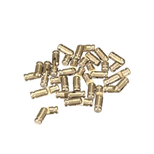 sourcing map Bisagra Oculta de Soporte plegable cilíndrica de tonos bronce 4mm...