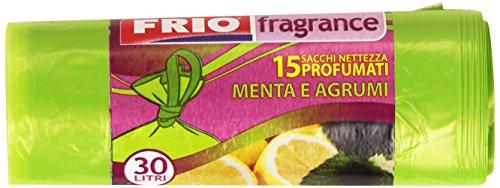 Frio - Sacchi Nettezza Profumati, Menta E Agrumi, 30 L - 15 Pezzi
