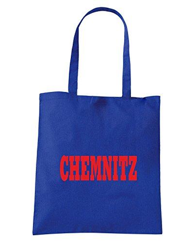T-Shirtshock - Borsa Shopping WC0819 CHEMNITZ GERMANY CITY Blu Royal