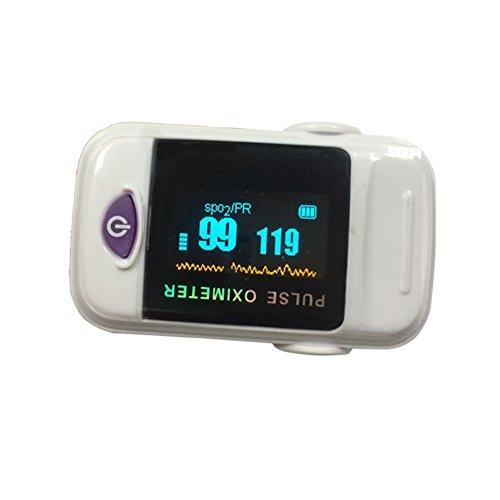 ZJEGO Ossimetro di Impulso della Barretta / Cardiofrequenzimetro con Display a LED (Batterie Non Incluse)