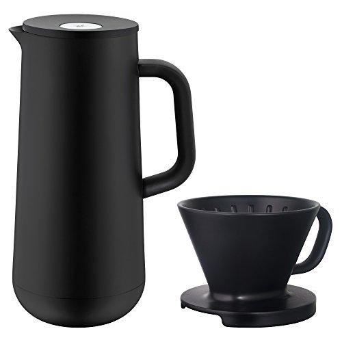 WMF Impulse Isolierkanne Set, 2-teilig, Thermoskanne 1,0 l mit Kaffeefilter-Aufsatz, für Kaffee...