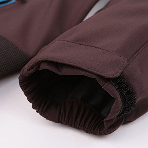 Zhhlinyuan vêtement de sport Mens Windproof Waterproof Walking Jacket Coat Outdoor Softshell Winter Jacket blue