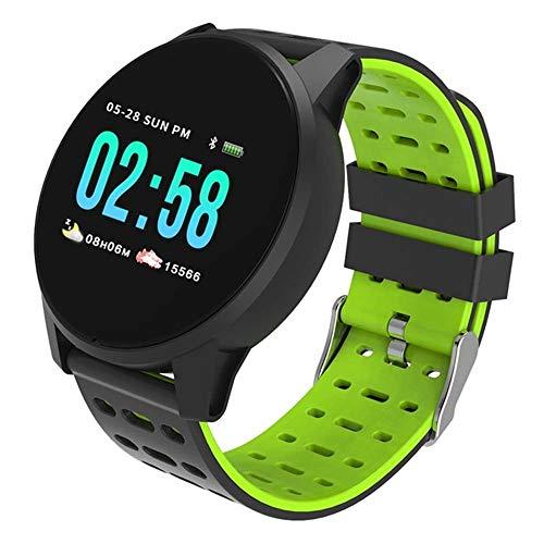 QUARKJK Smart Watch Aktivität Armband Farbe LCD Smart Band Sport Fitness Tracker Band Blutdruck Uhr Für Android-Handys,Green