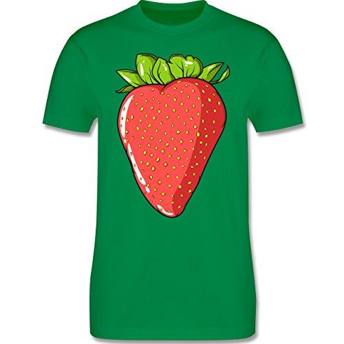 Shirtracer Statement Shirts - Erdbeere - Herren T-Shirt Rundhals Grün