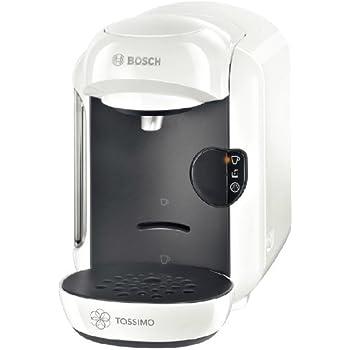 Bosch TASSIMO Vivy - Máquina multibebida, 1300 W, sistema multibebida totalmente automática, depósito de agua extraíble de 0,7 l, color blanco