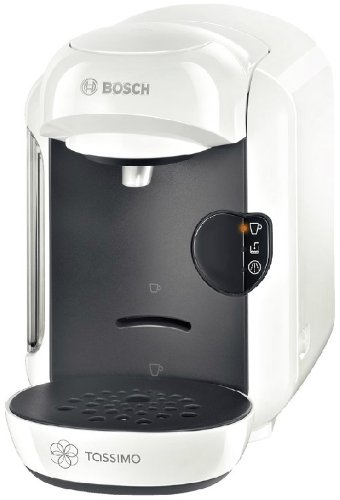 Bosch TAS1204 freestanding Fully-auto Pod coffee machine 0.7L Anthracite,White coffee maker - Coffee Makers (Freestanding, Pod coffee machine, 0.7 L, Coffee capsule, 1300 W, Anthracite, White)