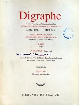 DIGRAPHE [No 51] du 01/03/1990 - VERS LA DECONSTRU...