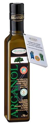 Argand'or Reines Bio-Arganöl, handgepresst, aus gerösteten Argannusskernen, besonders nussiger Geschmack, 250 ml, 1er Pack (1 x 250 ml)