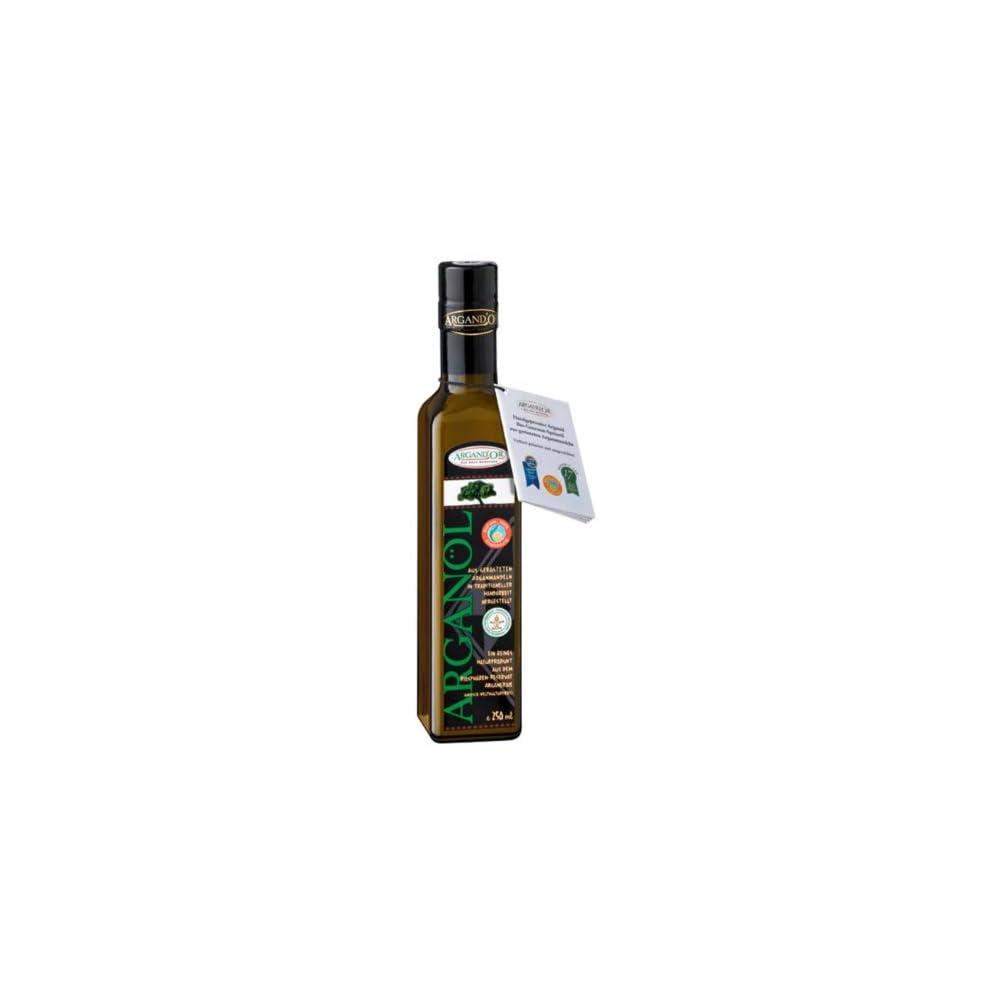 Argandor Reines Bio Arganl Handgepresst Aus Gersteten Argannusskernen Besonders Nussiger Geschmack 250 Ml 1er Pack 1 X 250 Ml