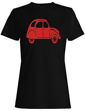 Citroen 2Cv camiseta de las mujeres j516f