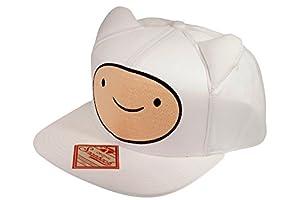Adventure Time Finn Face with Ears Hora de Aventuras Gorra de béisbol, Color Blanco, única (Bioworld 86593ADV)