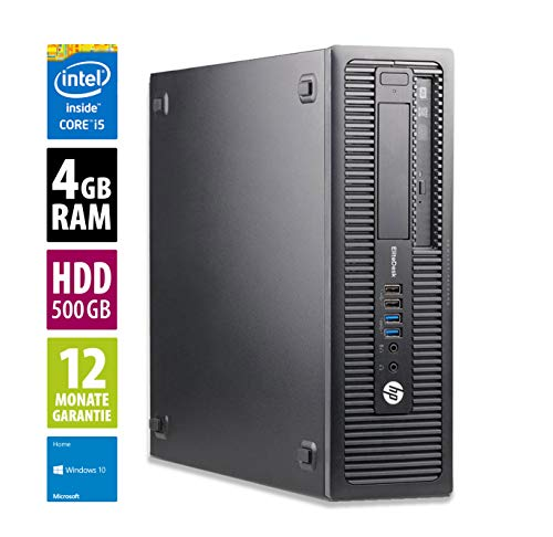 Ordinateur de Bureau HP EliteDesk 800 G1 SFF - Core i5-4570 @ 3,2 GHz - 4Go RAM - 500Go HDD - sans Lecteur - Win10 Home (Reconditionné)