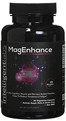 ? MagEnhance Best Magnesium Supplement ? Magnesium-L-Threonate Complex ? With Magnesium Glycinate and Taurate ? Brain, Heart, Sleep, Memory and Fibromyalgia ? 100% Money Back Guarantee! ? Vitamin Magnesium by Intelligent Labs