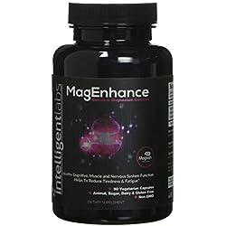 MagEnhance El mejor suplemento de magnesio, Complejo de L-treonato de magnesio con taurato y glicinato de magnesio, Cerebro, sueño, memoria y fibromialgia, con garantía, Vitamina de magnesio