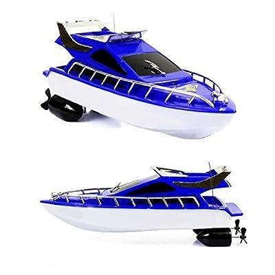 Zantec Kinder Mini 4 Wege Fernbedienung Geschwindigkeit Boot Navigation Modell Boot Spielzeug Weihnachtsgeschenk (zufällige Farbe) von Zantec