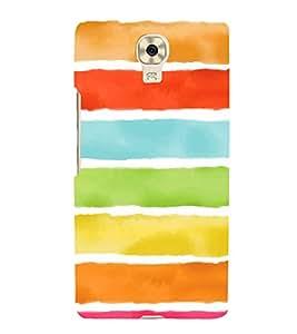 Fabcase multicoloured walls rubbed designs white stripes amazing Designer Back Case Cover for Gionee M6