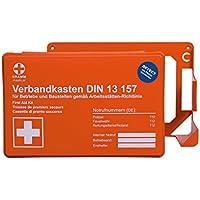 Betriebsverbandkasten MINI detect mit DIN 13 157 Orange mit Wandhalterung preisvergleich bei billige-tabletten.eu