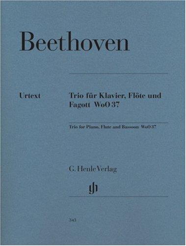 Flötentrio G-dur WoO 37 für Klavier, Flöte und Fagott