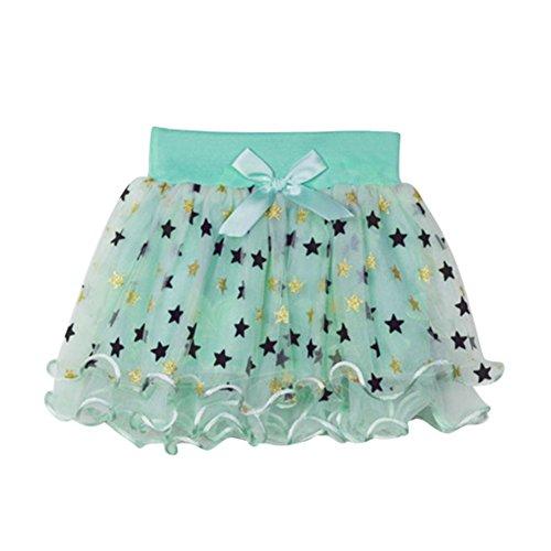 Pom Kostüme Tanz (Brightup Baby Mädchen Star Pattern Tutu Glitzer Ballett Triple Layer Tüll Tanz)