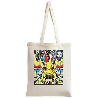 Keep Raving Rabbit Tote Bag