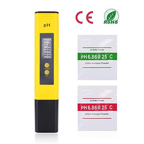 Ulikey PH Messgerät (ATC) Wasserqualität Tester mit LCD Display, PH Wert Messgerät Digitales (±0.01 pH Hohe Genauigkeit/0.00-14.00 Messbereich) für Pools Trinkwasser Hydroponic Aquarium Labor