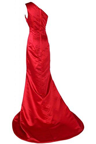 Sunvary Chic Una spalla raso abito da sera, abiti da sera Pageant-Gowns Rosso