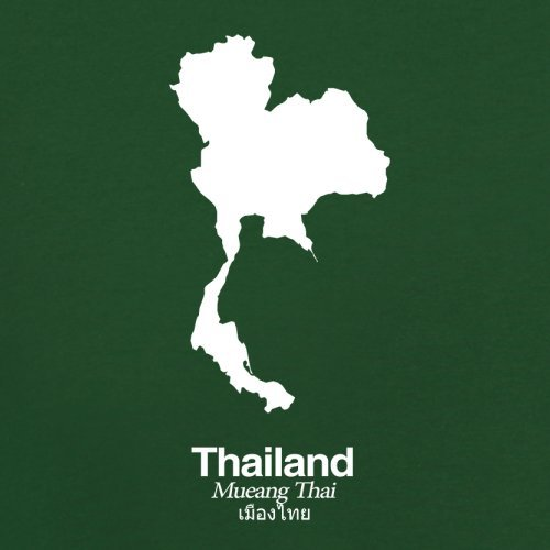 Thailand / Königreich Thailand Silhouette - Herren T-Shirt - 13 Farben Flaschengrün