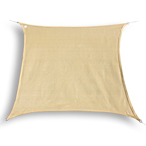hanSe Marken Sonnensegel Sonnenschutz Segel Quadrat 2x2 m Sand