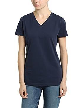 Berydale Camiseta de Manga Corta con Cuello de Pico para Mujer
