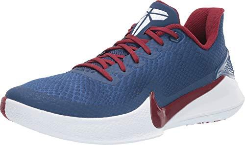 Nike Herren Mamba Focus Basketballschuhe, Mehrfarbig (Coastal Blue/Team Red/White 400), 43 EU