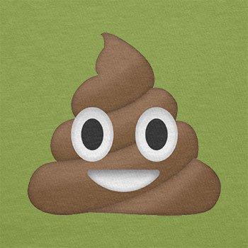 Texlab–Poo Emoji–sacchetto di stoffa Verde chiaro