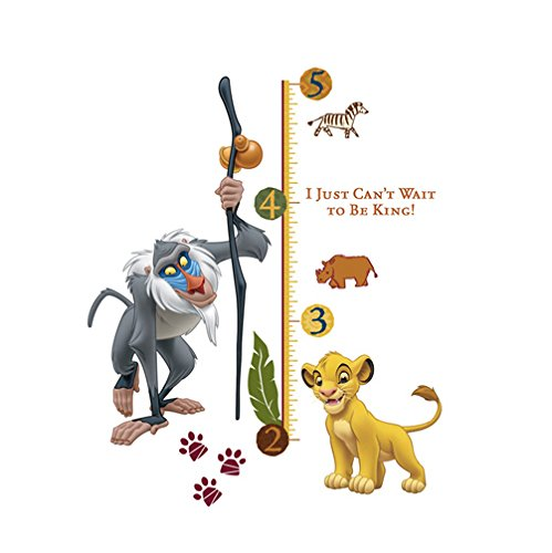 Disney RoomMates The Lion King Räucherstäbchen Rafiki Messlatte - Boy Disney Wandtattoos