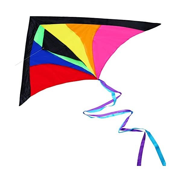 Anpro Huge Colorful Kite for Kids and Adults - Huge Size and Best Easy Flyer, Huge colorful kite with 60m/197 Feet Flying Line 1