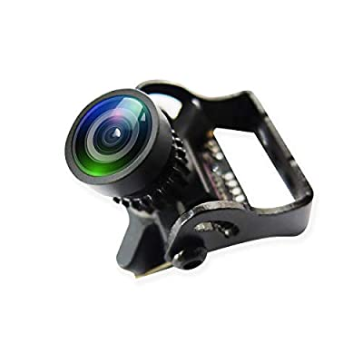 Hankermall Mini FPV Camera Caddx Turbo EOS2 4:3 1200TVL 2.1mm FOV 160 Degree 1/3 CMOS PAL Micro Mini FPV Camera Black for FPV Quadcopter Racing Drone